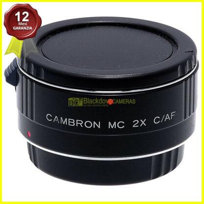 Moltiplicatore-di-focale-2x-Cambron-per-obiettivi-Canon-EOS-EF-Duplicatore