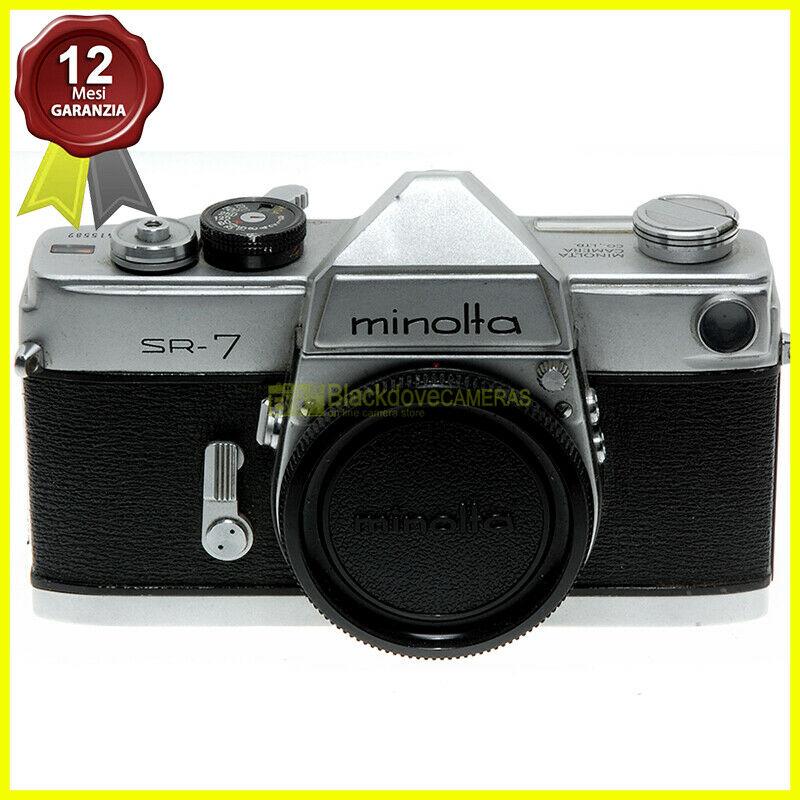 Minolta Sr 7 Body Reflex A Pellicola Otturatore Meccanico Macchina Fotografica Blackdove Cameras