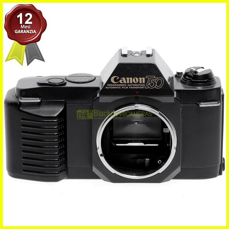 Canon T50 Macchina Fotografica Automatica A Pellicola Innesto Fd Fl Fotocamera Blackdove Cameras